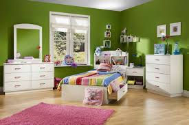 Pink And Green Walls In A Bedroom Kids Room Green Painted On The Wall With Beige Solid Wood Bunk