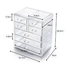 CHOICE FUN Top Selling Acrylic Makeup Storage Box Clear Cosmetic Chest  Sundries Organizer Large Makeup Drawer Box SF 1549 7-in Makeup Organizers  from Home ...