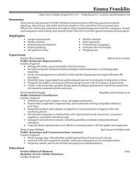 sample public relations resume best public relations resume example livecareer