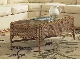 bodega bay rattan wicker coffee table