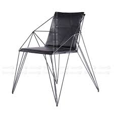 black or white furniture. Fermi Geometric Wire Dining Chair - Black Or White Furniture