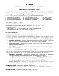 Programming Resume Examples Resume And Cover Letter Resume And