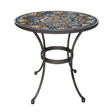 glass mosaic patio bistro table
