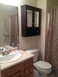 Double Mirrored Bathroom Cabinet Black Wooden Floating Bathroom Cabinet With Double Mirror Doors