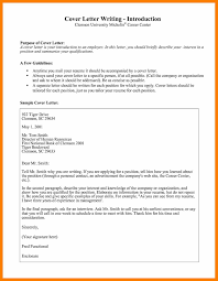 Cover Letter Introduction Cover Letter Introduction 13 Cover Letter