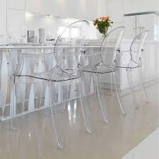 chair dining room black acrylic chairs pictures decorations ghost