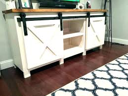 rustic tv stand with barn doors stands for a and shelves electric fireplace