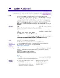 Nice Resume Examples