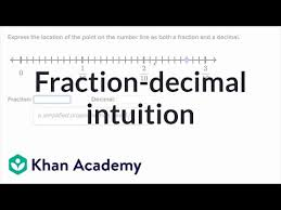 Decimal Scale Chart Writing A Number As A Fraction And Decimal Video Khan