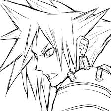 Final Fantasy 7 Coloring Pages Witch Hunter Robin Coloring Pages