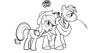 my little pony friendship is magic coloring pages. Beautiful Coloring My Little Pony Friendship Is Magic Images Colouring Sheets   Applejack And Big Mac HD Wallpaper Background Photos For Is Coloring Pages S