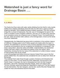 Watershed Is Just A Fancy Word For Drainage Basin By Green Media