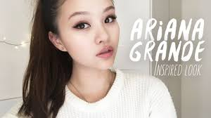 ariana grande inspired makeup look false lashes tutorial english you