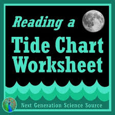 Ocean Tides Worksheet Using A Tide Chart Ngss Ms Ess1 2 Hs Ess1 2