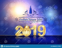 Buon Anno 2019 Scritto In Tedesco - La Cartolina D'auguri Della Stagione  Illustrazione di Stock - Illustrazione di natale, allegro: 129998415
