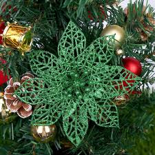 glitter flower for merry christmas tree
