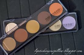make up for ever 5 camouflage cream palette review lipstick on