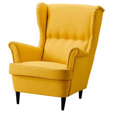 strandmon wing chair skiftebo yellow ikea surprising winged armchair uk wingback and footstool chairs for nz covers back second hand