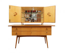 Cherry Bar Cabinet Cherry Wood Sideboard And Bar Cabinet 1950s For Sale At Pamono