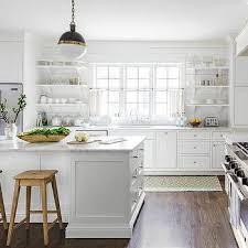 rustic white country kitchen. Brilliant Kitchen White Country Kitchen With Stacked Shelves Intended Rustic E