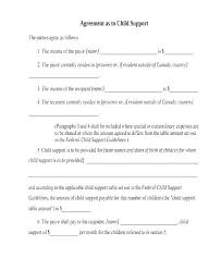 Child Contract Template It Support Agreement Template Child