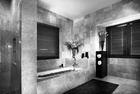 Bathroom Black And White Marble Tub Pictures Decorations - White marble bathroom