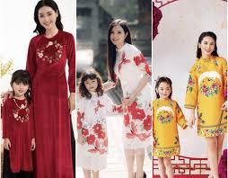 Những mẫu áo dài Tết cho mẹ và bé mới nhất 2020 - Cung Cầu