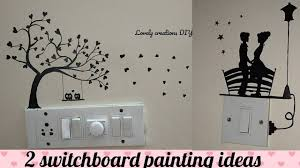 Switchboard Wall Painting Designs 2 Beautiful Switchboard Painting Diy Ideas Ll Easy And Unique Love Painting For Switchboards
