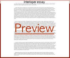 interloper essay term paper academic writing service interloper essay