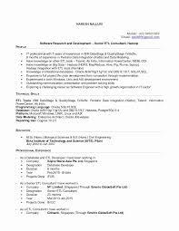 Ab Initio Developer Sample Resumes Beautiful Etl Testing Resume