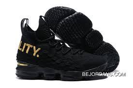 New Year Deals Nike Lebron 15 Equality Pe Black Gold Basketball Shoe