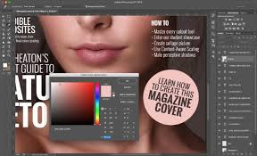 how to create a magazine cover in photo
