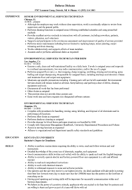 Sample Resume For Environmental Services Environmental Services Technician Resume Samples Velvet Jobs 15