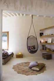 traditional bedroom with wooden wall shelves also black diy hanging chair style