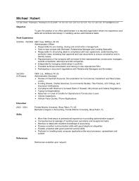 Job Resume Office Administrator Samples Administration Examples