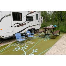 bbnia fernando reversible rvcampingpatio mat in bluegreen camping outdoor rugs