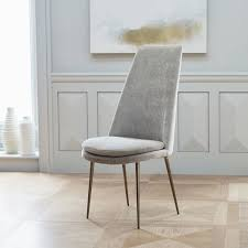 velvet dining chairs new finley high back chair west elm within 8 regarding gray design 13 architecture curved rectangular dining table