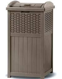wicker trash basket cans outdoor can garbage suncast costco
