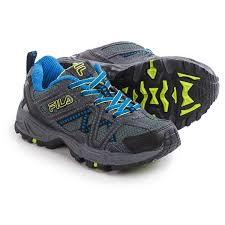 fila boys shoes. fila ascente 15 trail running shoes (for little and big boys) in black/ boys