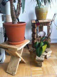 pallet furniture garden. Three Flower Stands Made From Pallet Leftovers Furniture Garden