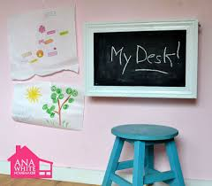 Fold down wall desk Drop Down This Do It Yourself Kids Desk Folds Up To Become Wall Chalkboard Stores Art Supplies And Even Paper Roll Holder Super Easy Step By Step Instructions Amazoncom Ana White Flip Down Wall Art Desk Diy Projects