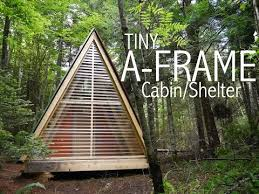 a tiny a frame cabin shelter in the woods of vermont tiny house