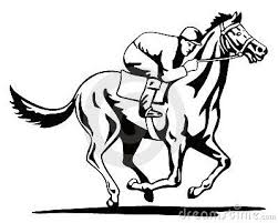 template horse thoroughbred race horse template horse and jockey on a winning