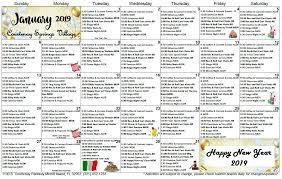 SNF-January-2019-calendar - Courtenay Springs Village