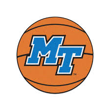 fanmats ncaa middle tennessee state university orange 2 ft x 2 ft round area