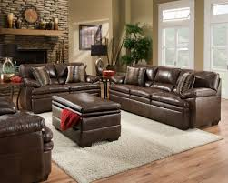 Leather Accent Chairs For Living Room Furniture Modern Home Furniture Matched With Brown Leather Sofa