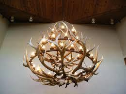 deer antler chandelier with crystals deer antler chandelier kit regarding amazing home deer antler chandelier kit ideas