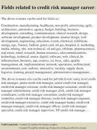 ... 16. Fields related to credit risk manager ...