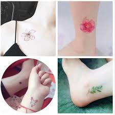 Tattoo Samolepky Nepromokavé ženy Trvající Simulace Korejské Květiny