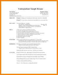Cv Template Undergraduate Resume Examples Student Resume